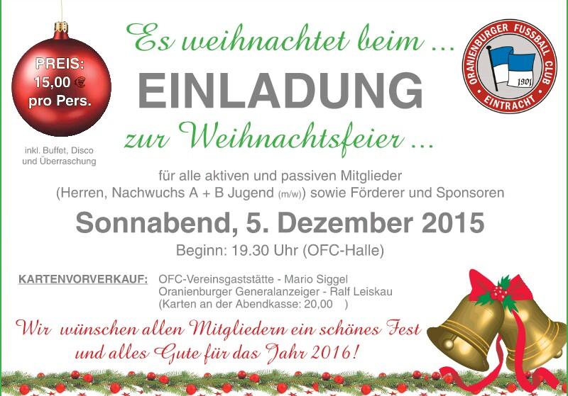 OFC Weihnachtsfeier 2015