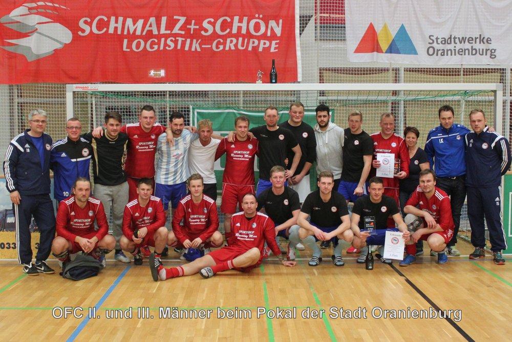 II. und III. Männer beim Pokal der Stadt Oranienburg 2016